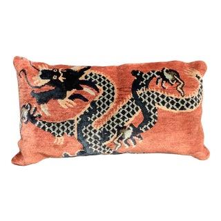 Chinoiserie Tibetan Dragon Pillow For Sale