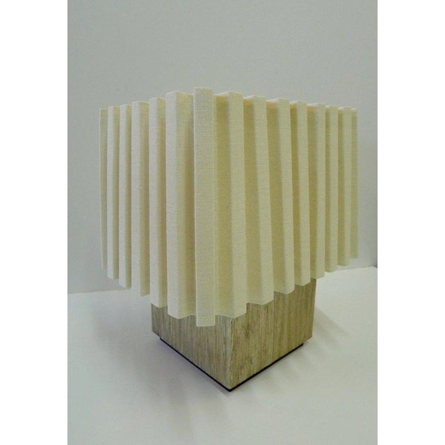 Contemporary Paul Marra Modern Distressed Silvered Oak Lamp For Sale - Image 3 of 9