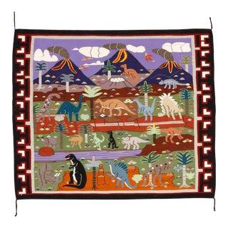Florence Riggs Navajo Pictorial Rug - 3′6″ × 4′2″