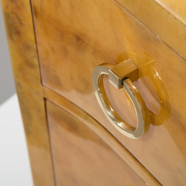Lacquer Lacquered Goatskin Commode 1970's For Sale - Image 7 of 8
