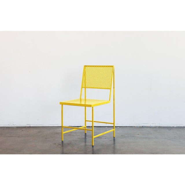 Not Yet Made - Made To Order Flux Dining Chair in Sunlight Yellow by the Foreman Brothers For Sale - Image 5 of 6