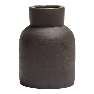 Featured in The 2020 San Francisco Decorator Showcase — Eric Vander Molen Minimal Charcoal Ceramic Vessel For Sale