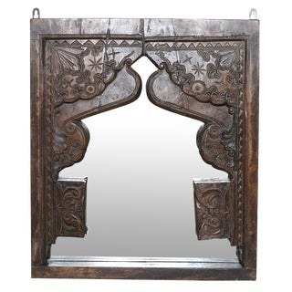 Carved Tribal Temple Mirror
