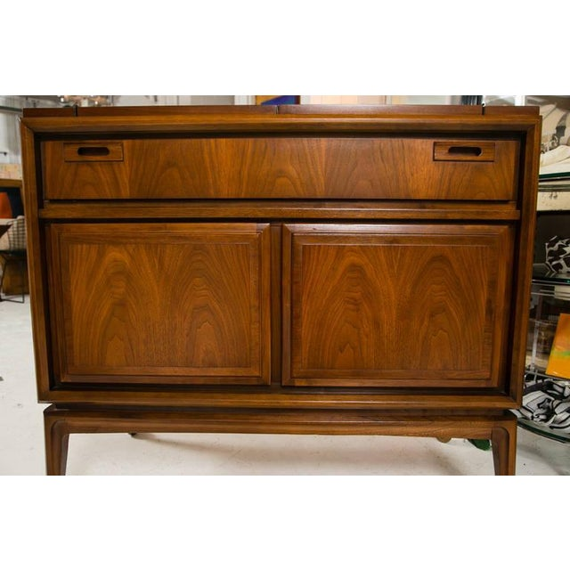 Mid-Century Custom Flip-Top Bar Cabinet - Image 2 of 10