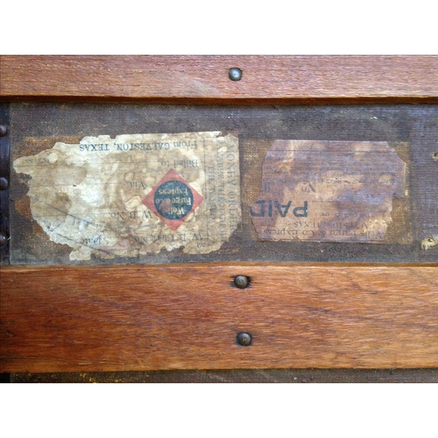 Antique Wells Fargo Stage Coach Trunk For Sale - Image 7 of 9