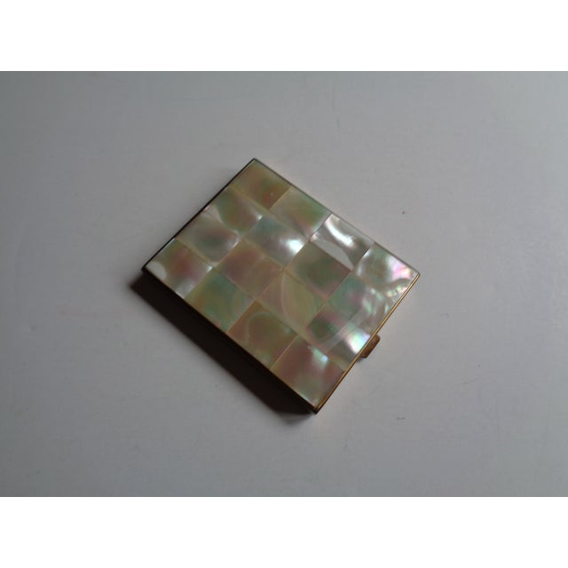Vintage Mother of Pearl & Brass Compact - Image 3 of 6