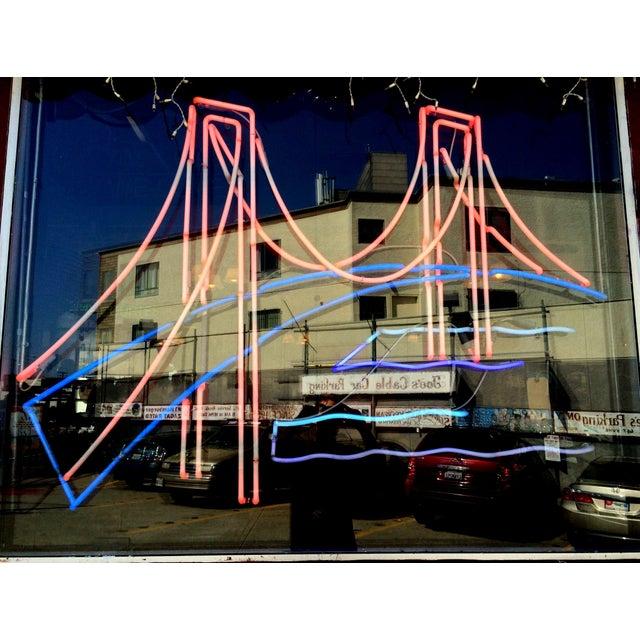 Vintage Golden Gate Bridge Neon Sign - Image 2 of 3