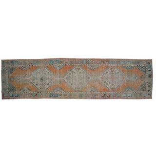 """Vintage Oushak Distressed Rug Runner - 2'7""""x 9'10"""" For Sale"""