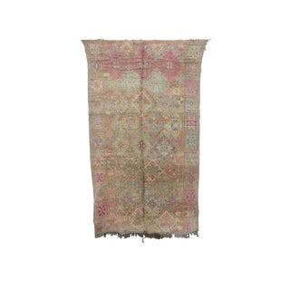 "Boujad Vintage Moroccan Rug - 6'0"" X 10'0"" For Sale"