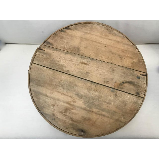 Wood Antique Round Wood Box - Kingston, Ny For Sale - Image 7 of 8