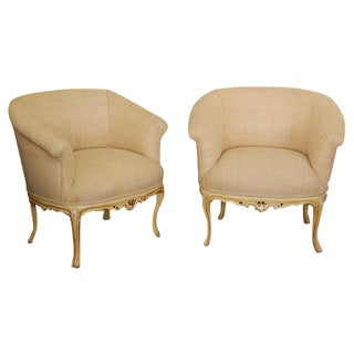 Louis XV Style Upholstered Chairs - A Pair For Sale