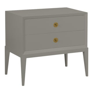 Casa Cosima Hayes 2-Drawer Side Chest, Chelsea Gray For Sale