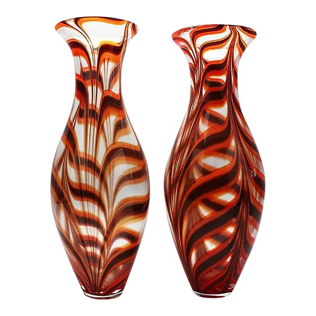 1950s Vintage Barovier Ercole Vases - a Pair For Sale