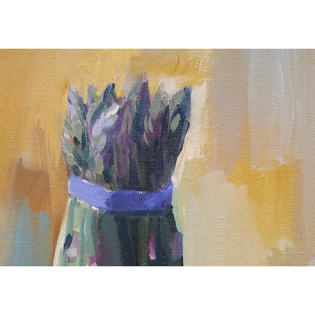 """Contemporary Paula McCarty """"Asparagus"""" Contemporary Painting For Sale - Image 3 of 3"""