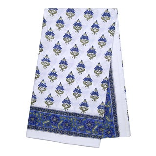 Blossom Tablecloth, 4-seat table - Blue For Sale