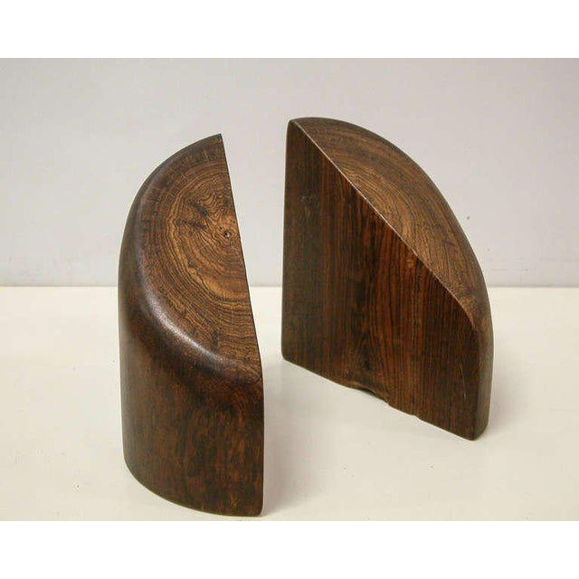 1960s 1960s Don Shoemaker Cocobolo Wood Bookends - a Pair For Sale - Image 5 of 10