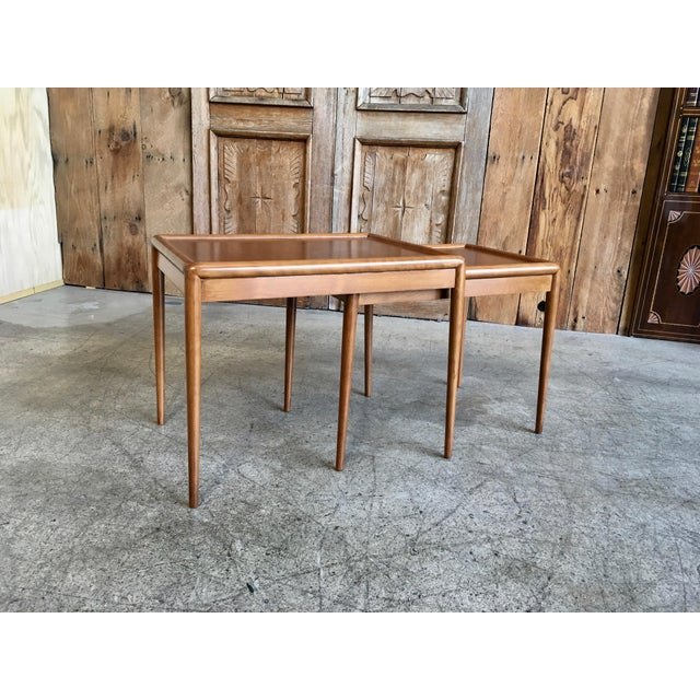 Nesting Tables by t.h. Robsjohn-Gibbings for Widdicomb - A Pair For Sale - Image 11 of 11