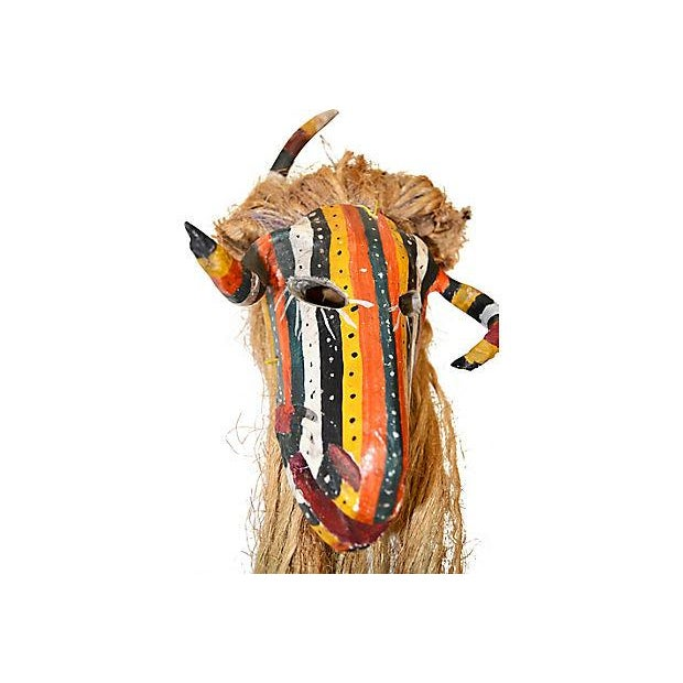 Mexican Ceremonial Guerrero Goat Mask For Sale - Image 4 of 7