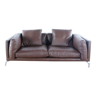 Design Within Reach Como Leather Sofa For Sale