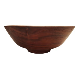 Mid 20th Century Footed California Black Walnut Bowl by Bob Stocksdale For Sale