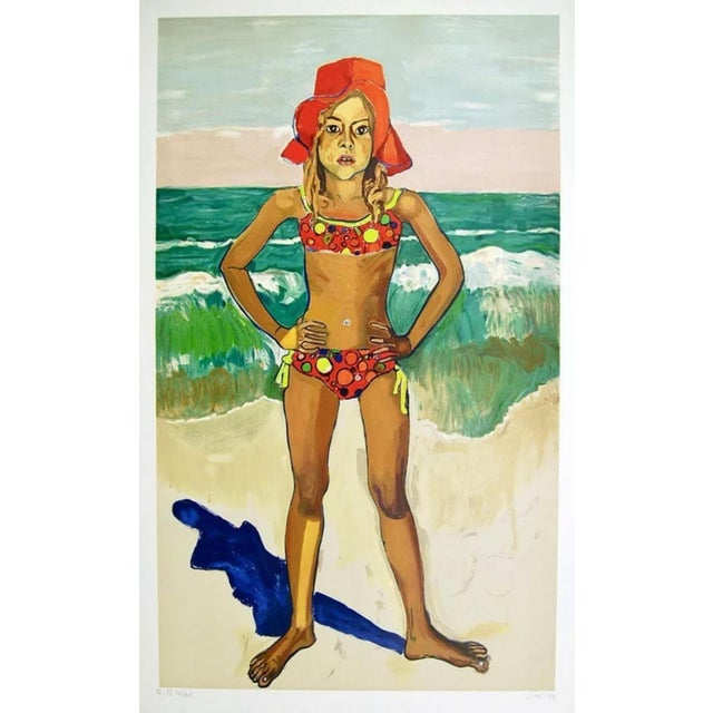Artist: Alice Neel (1900-1984) Title: Bather (Olivia with Red Hat) Year: 1982 Medium: Lithograph on Arches paper Edition:...