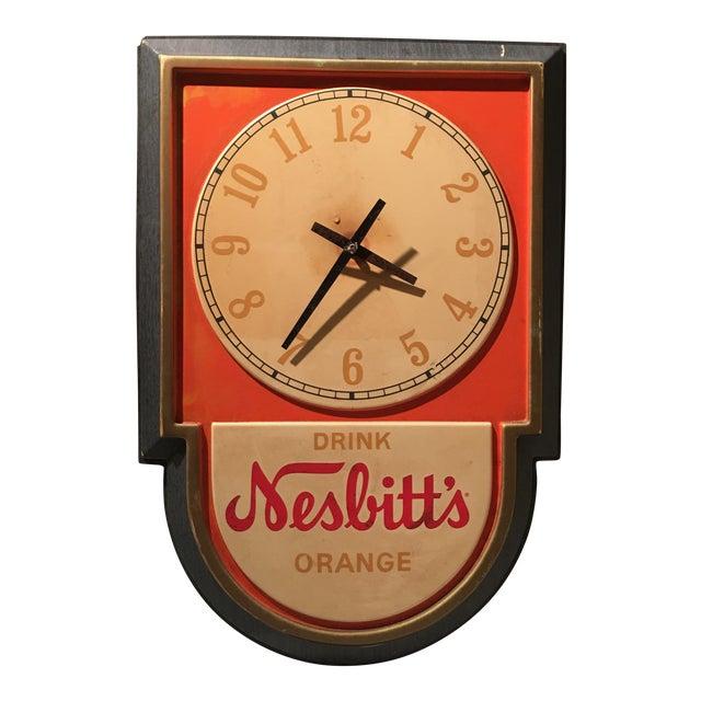 Vintage Nesbitts Orange Soda Clock - Image 1 of 7