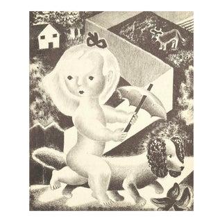 'Sally' by Nura Ulreich, 1940s, Art Student's League, Salon D'Automne, Art Deco, Paris For Sale
