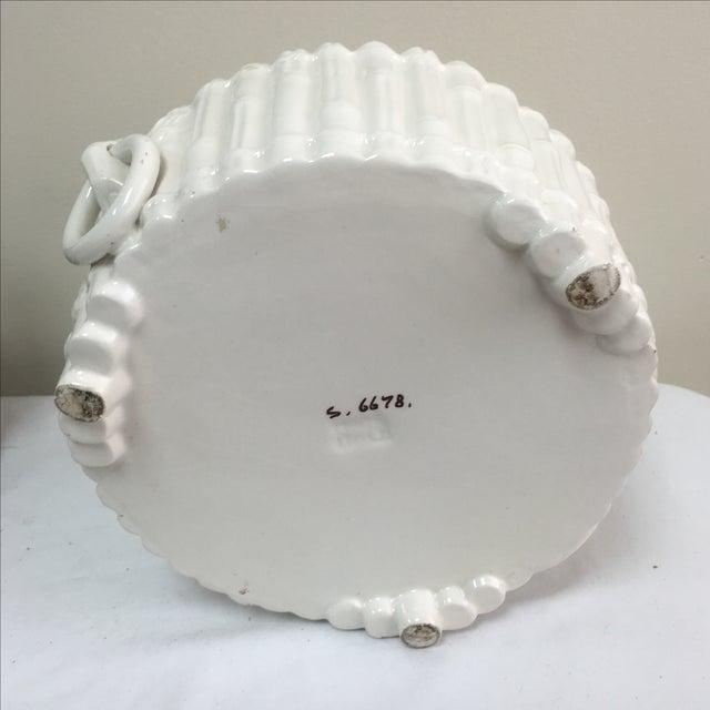 Italian Ceramic Faux Bamboo Planter - Image 7 of 7
