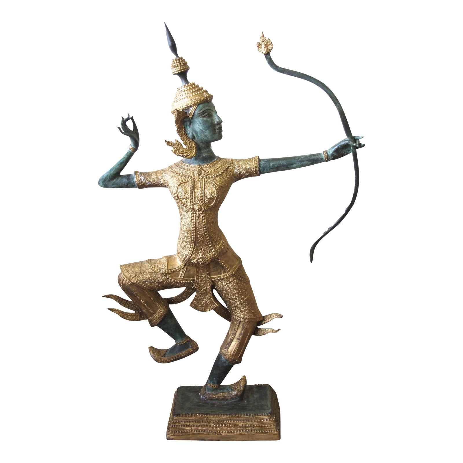 Thai Prince Rama Bronze Garden Statue Chairish