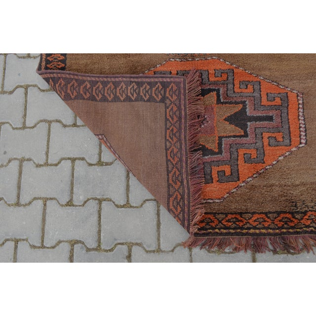 Hand Knotted Turkish Runner Rug - 3′11″ × 10′9″ - Image 9 of 10