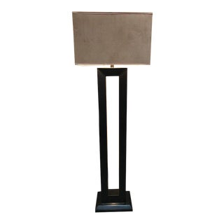 Architectural Floor Lamp in Black Lacquer