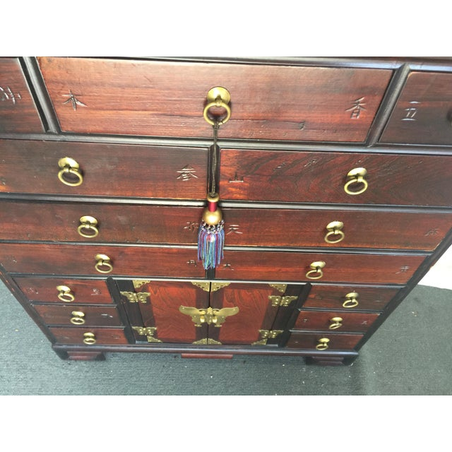 Korean Tansu Apothecary Style Chest For Sale In San Francisco - Image 6 of 9