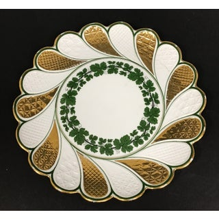 Vintage Meissen Porcelain Green Ivy Gilded Cake Plate Preview