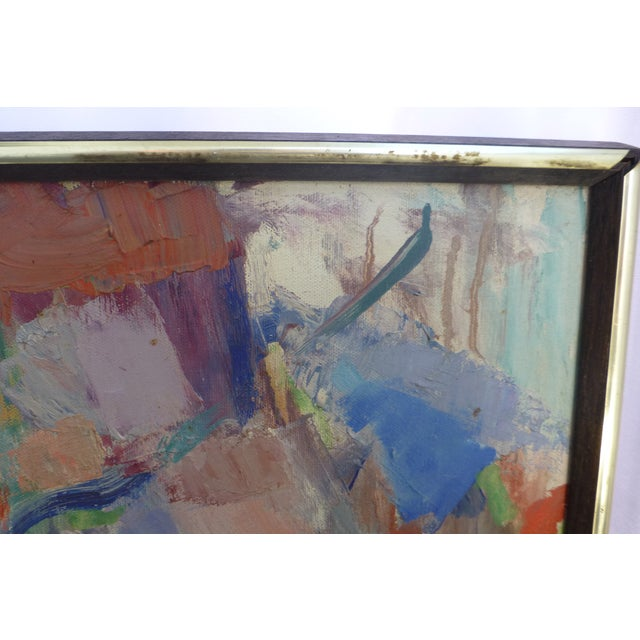 Signed Abstract Oil Painting by Jean Gunther, Listed Artist - Image 4 of 13