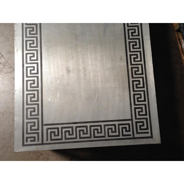 Contemporary Greek Key Table Or Bench For Sale - Image 3 of 3