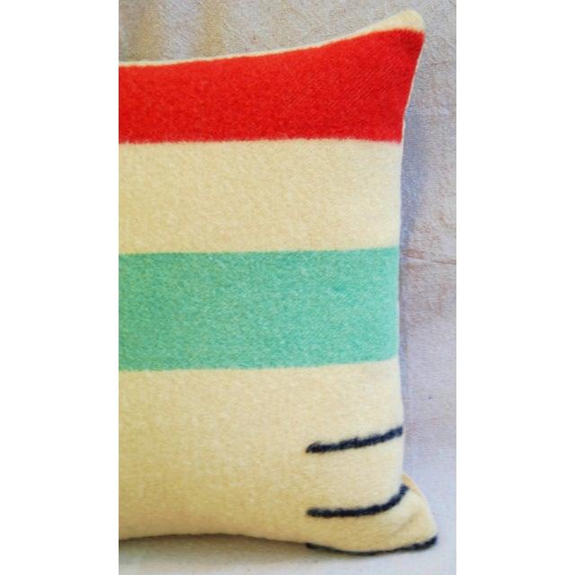 Multi-Striped Hudson's Bay Blanket Pillow - Image 3 of 6