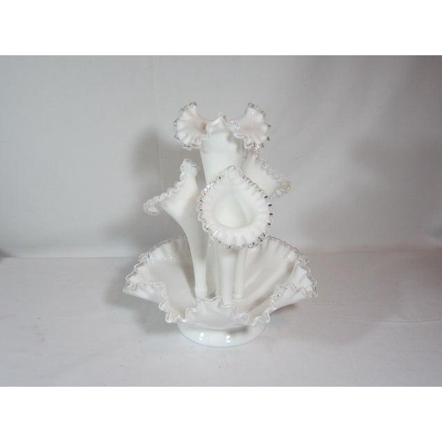 Fenton Epergne Ruffled Vase - Image 7 of 8