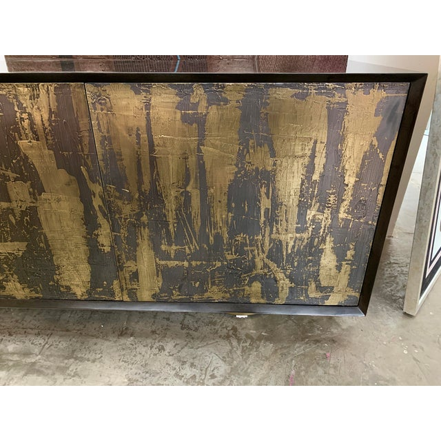 Bridges Over Time Originals Brass and Iron Sculpted Credenza For Sale - Image 9 of 11