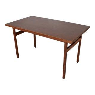 1950s Jens Risom Compact Walnut & Formica Writing Desk For Sale