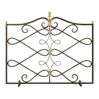 G. Poillerat Style Handmade Fire Screen For Sale