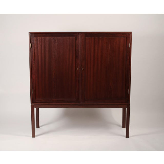 Scandinavian Modernist Mahogany Armoire Cabinet For Sale In Dallas - Image 6 of 6
