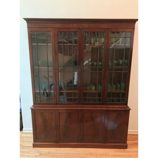 Late 18th Century George III Style Mahogany Bookcase Cabinet For Sale - Image 5 of 13
