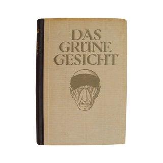 1923 Das Grüne Gesicht Book