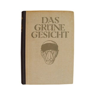 1923 Das Grüne Gesicht Early Science Fiction Book For Sale