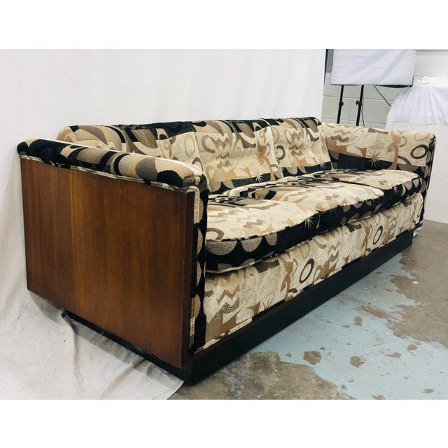 Mid Century Modern Wood Framed Sofa Chairish