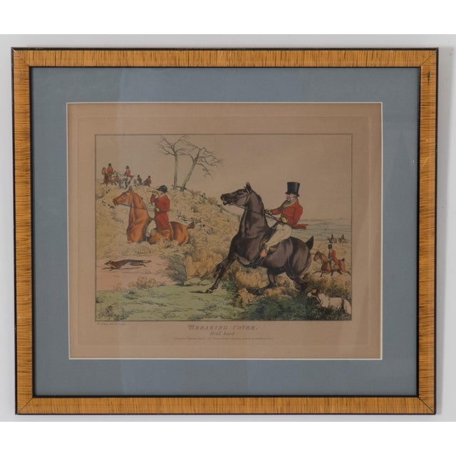 """Set of 6 English Hunting Prints by Henry Alken published by S&J Fuller, London 1825. """"Breaking Cover"""". """"Over a Brook""""...."""
