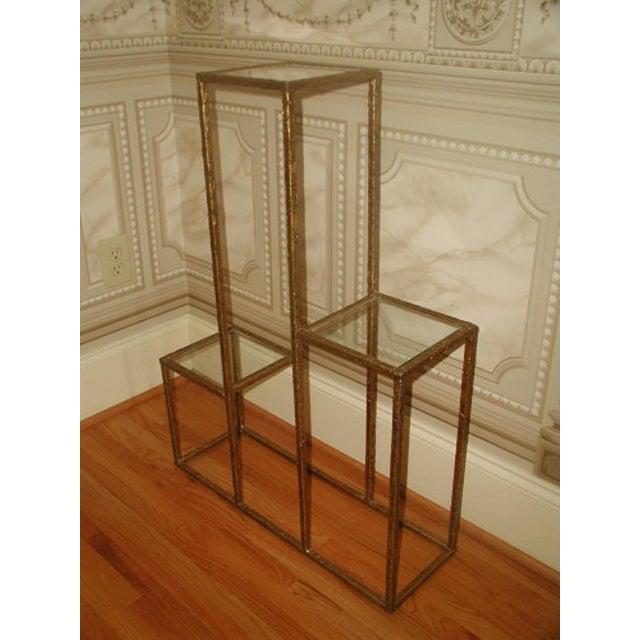 Gilt Metal & Glass 3 Tier Shelf Table - Image 5 of 9