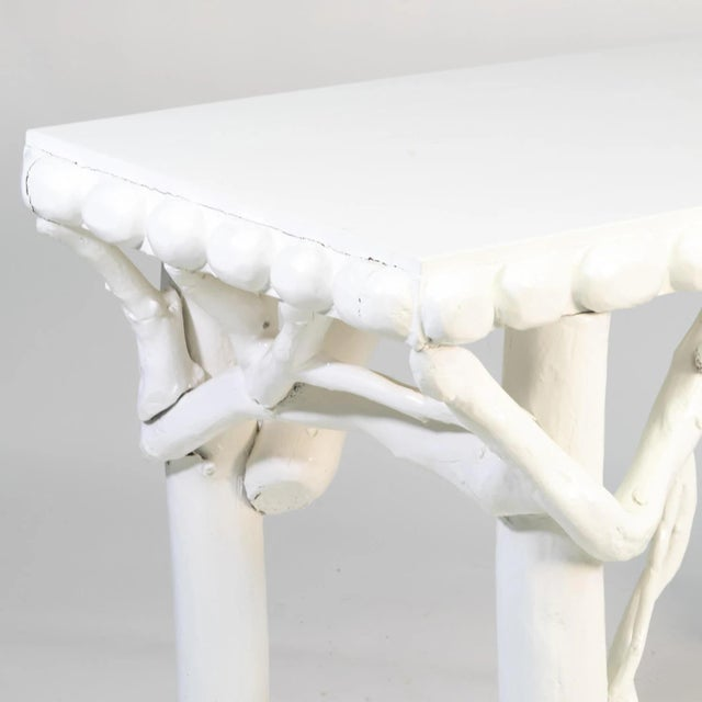1990s White Lacquered Root Console For Sale In Boston - Image 6 of 12