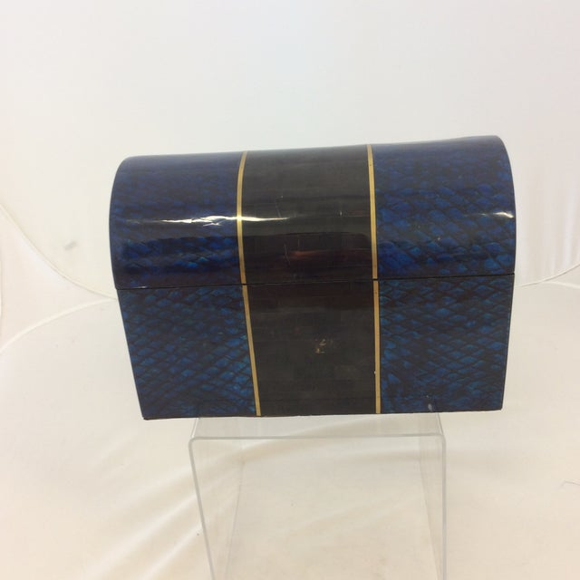 Maitland- Smith Lapis & Penshell Box - Image 2 of 11