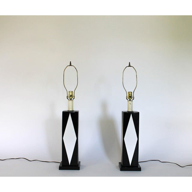 Pair of Mid-Century Ceramic Table Lamps - Image 2 of 8